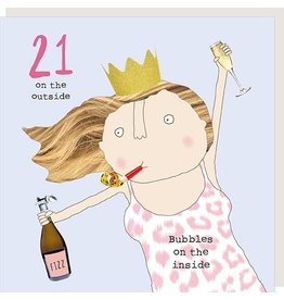 Rosie Made a Thing Card- Girl 21 Bubbles