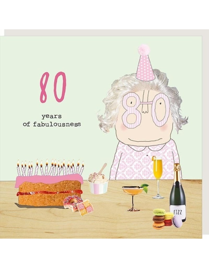 Rosie Made a Thing Card-Bday Girl 80
