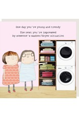Rosie Made a Thing Card- Washer Dryer