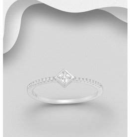 Sterling Sterling Ring- Cubic Zirconia
