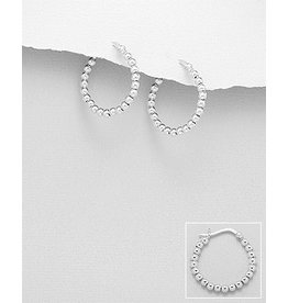 Sterling Sterling Silver Ball Hoops