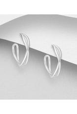 Sterling Silver Push Back Earrings