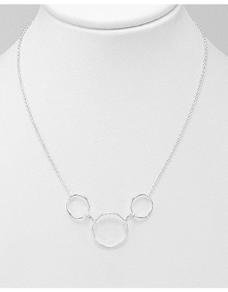 Sterling Silver Circle and Link Necklace