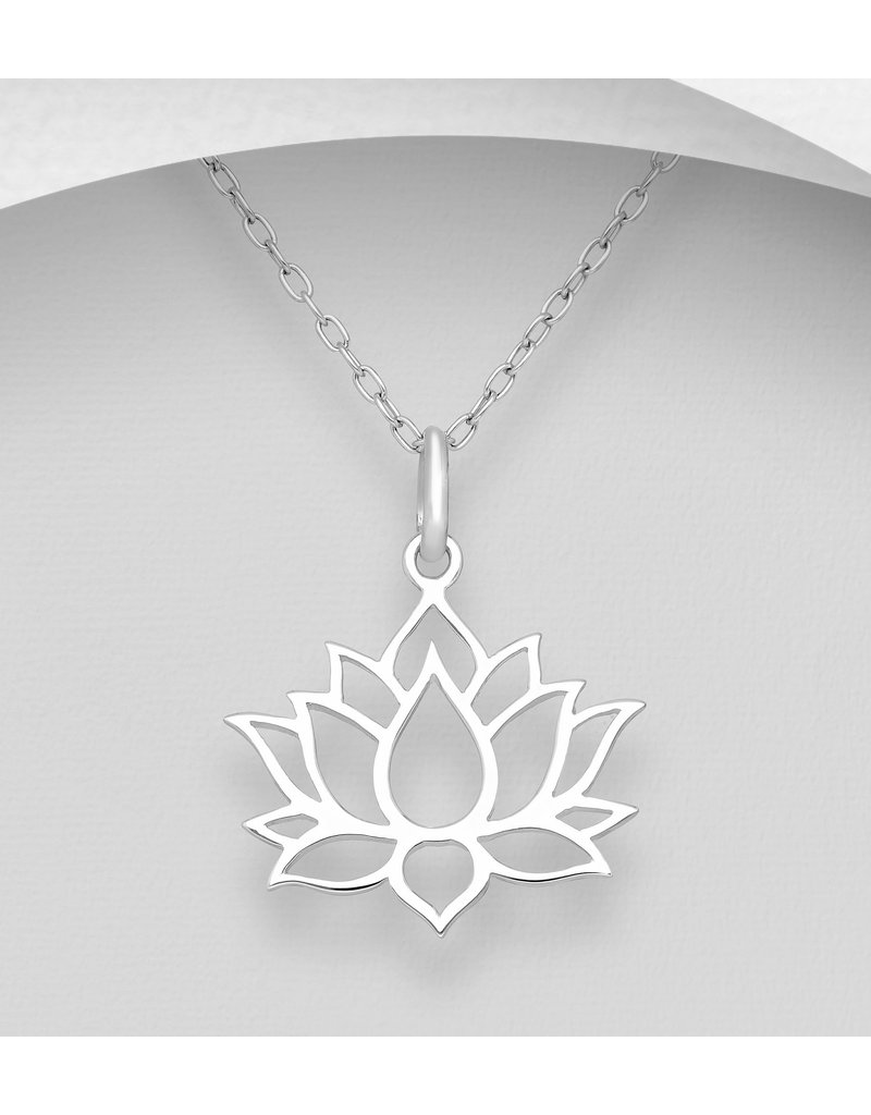 Sterling Sterling Lotus Necklace