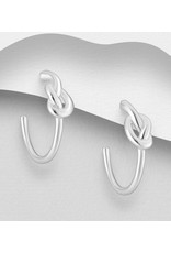 Sterling Sterling Knot Hoops