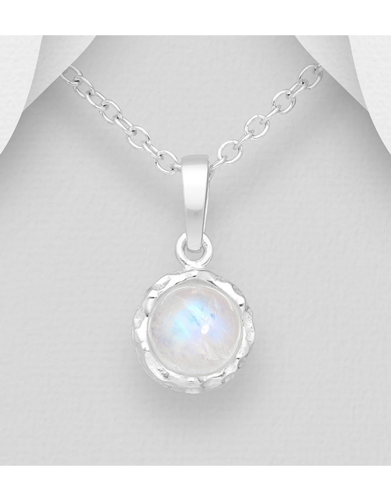 Sterling Sterling Silver Moonstone Necklace