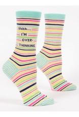 Blue Q Crew Socks- Shhh I am Overthinking