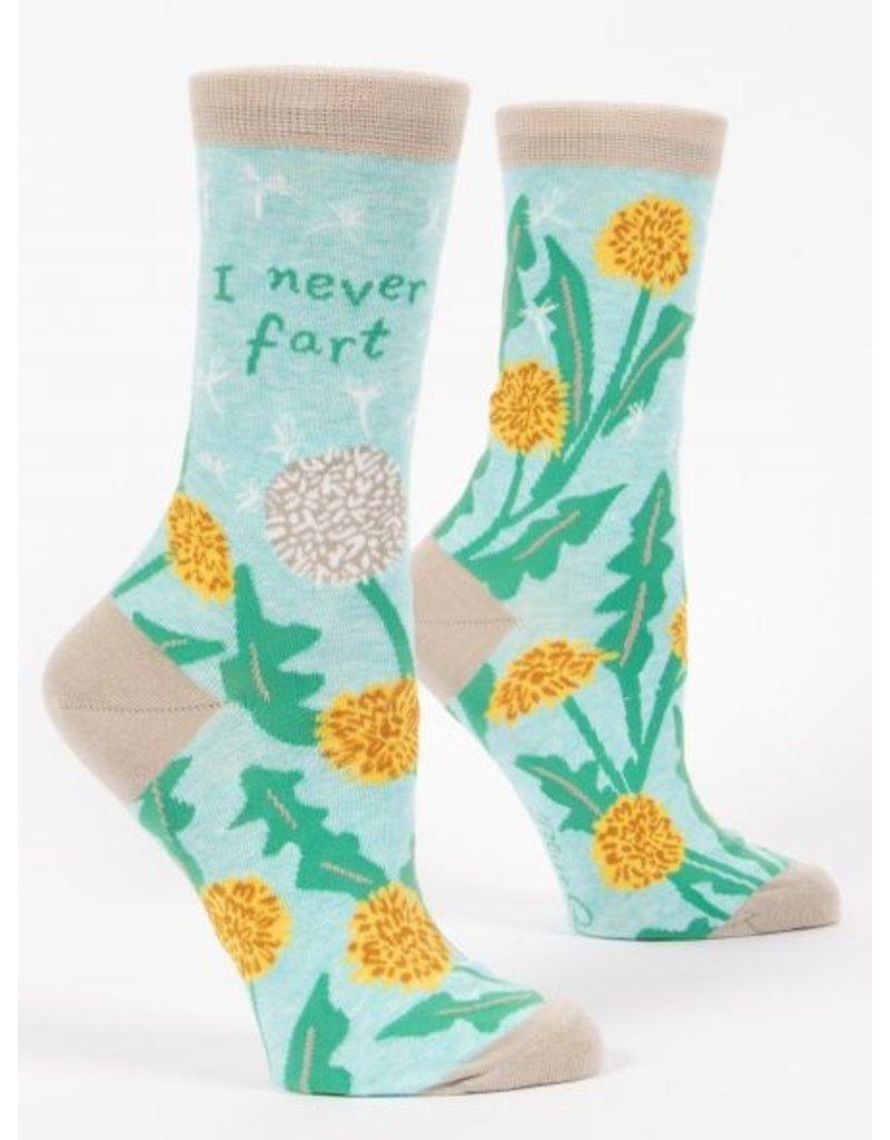 Blue Q Crew Socks- I Never Fart