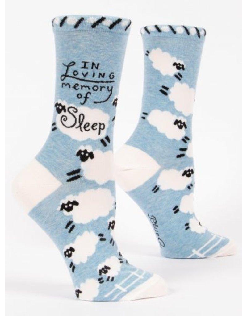 Blue Q Ladies Crew Socks-In Loving Memory Of Sleep