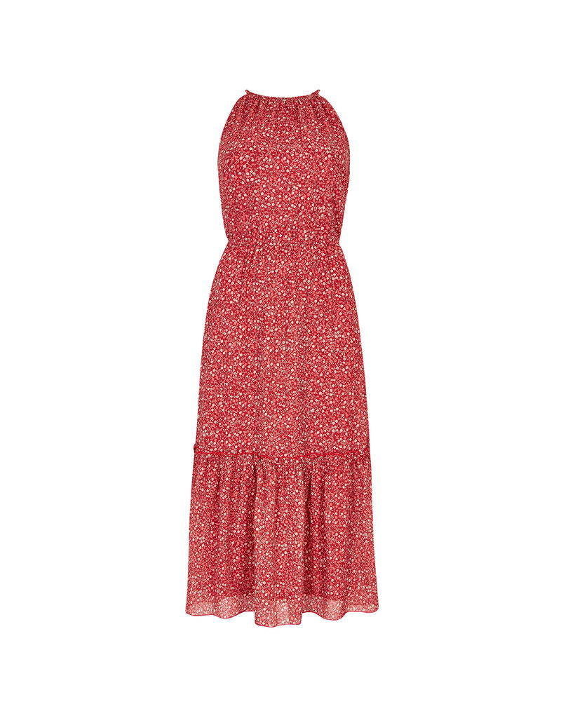 Apricot Reece Ditsy Ruffle Midi Dress