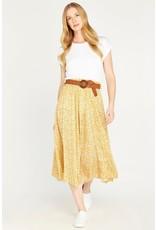 Apricot Dale Mustard Vintage Pebble Daisy Skirt
