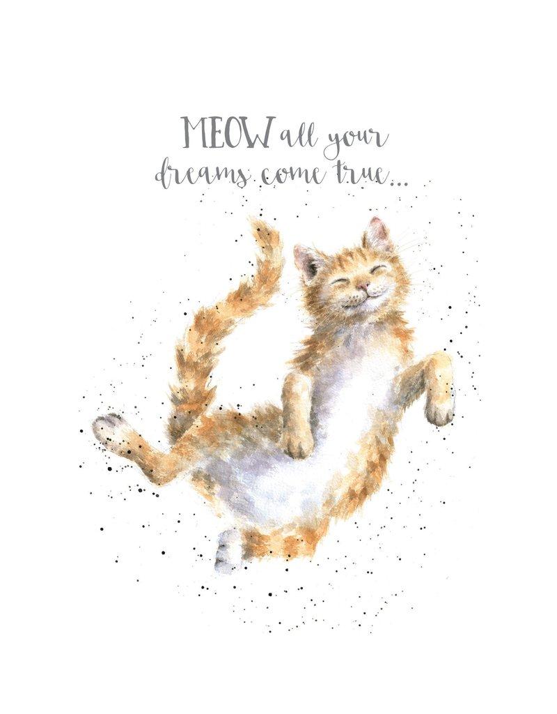 WRENDALE Card-Meow-Dreams Come True