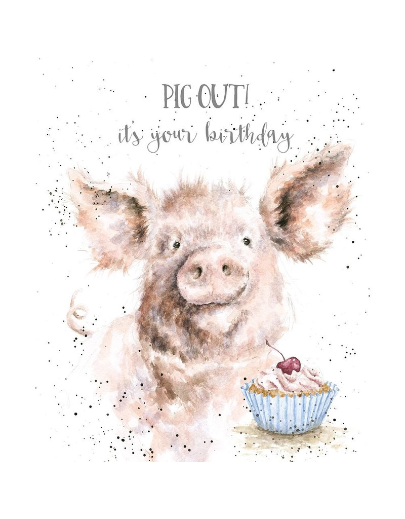WRENDALE Card-Pig Out