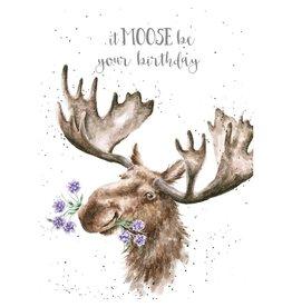 WRENDALE Card-Birthday Moose
