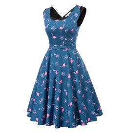 Miss. Lulo Fran Flamingo Dress