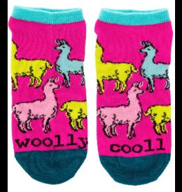 Wit Llama Ankle Socks