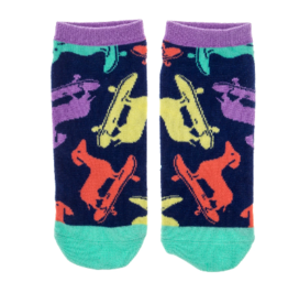 Wit Ankle Socks-Skateboard