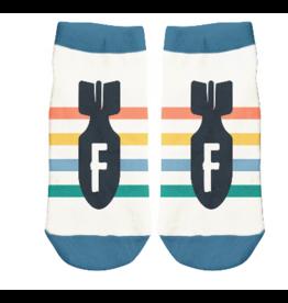 Wit Ankle Socks-F-Bomb