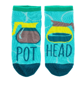 Wit Ankle Socks-Pot Head