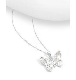 Sterling Necklace- Butterfly