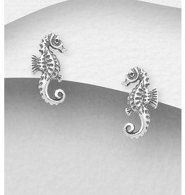 Sterling Studs- Seahorses