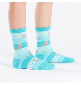 Sock it to me Junior Crew -Unicorn Of The Sea