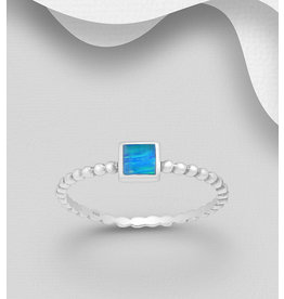 Sterling Ring-Square Opal