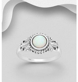 Sterling Ring-Filigree Opal