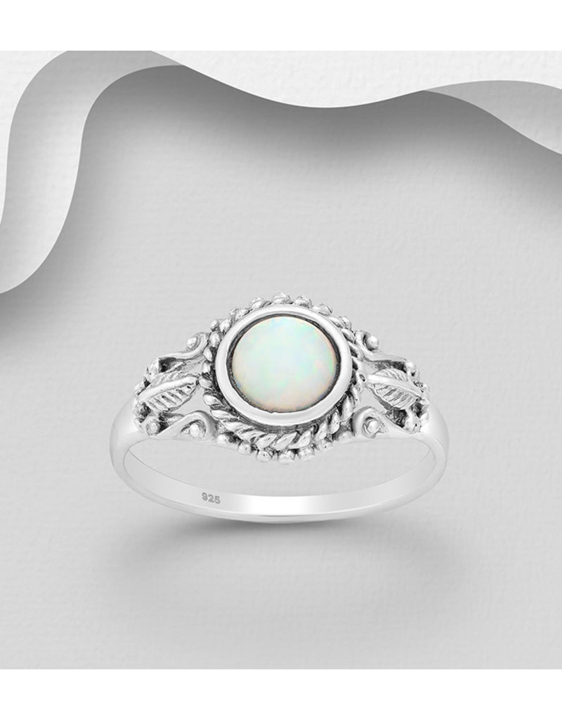 Sterling Ring-Filigree Opal