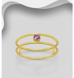 glimmer Gold Ring W/Amethyst