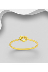 Sterling Gold Ring-Knotted Heart
