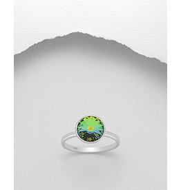 Sterling Swarovski- Round Ring