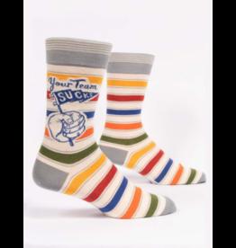 Blue Q Men's Socks-Your Team Sucks