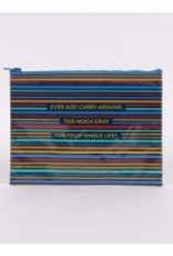 Blue Q Zipper Pouch- Too Much Crap
