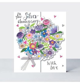 Rachel Ellen Designs Card On Your Silver Anniversary