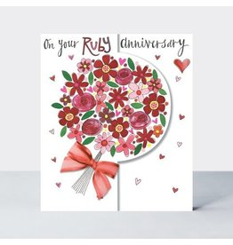 Rachel Ellen Designs Card On Your Ruby Anniversary