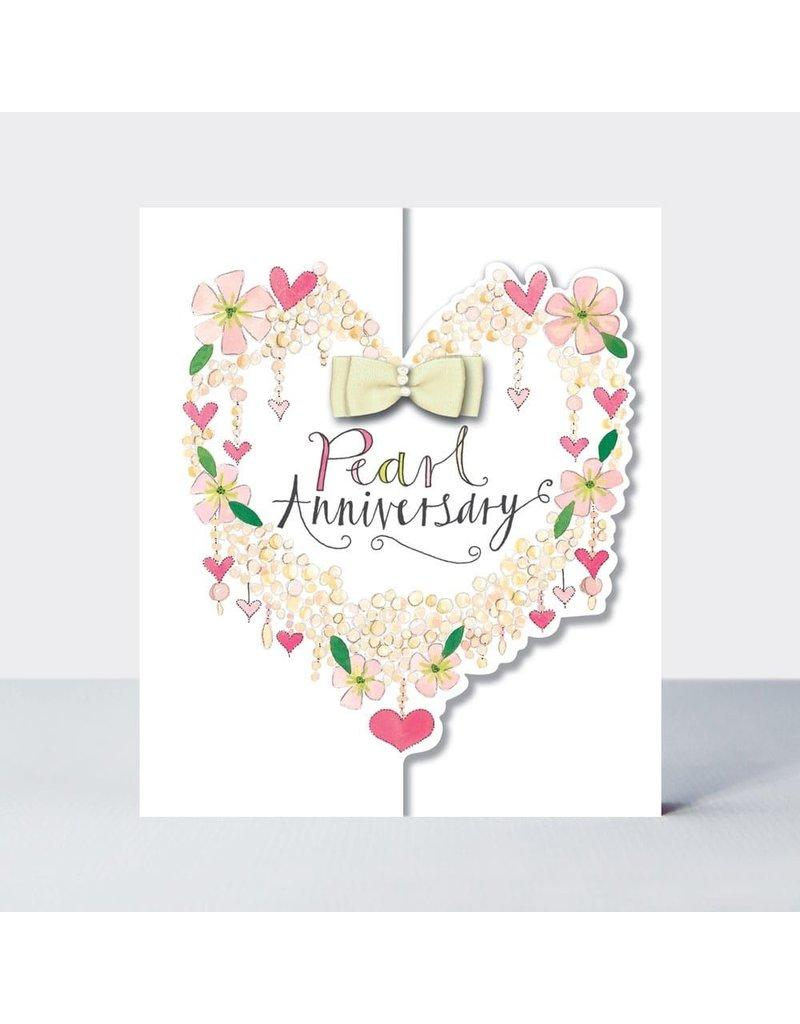 Rachel Ellen Designs Card Pearl Anniversary