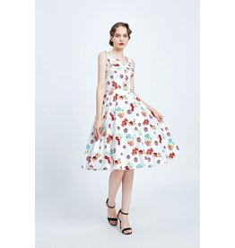 Miss. Lulo Madge Floral Cherry Dress