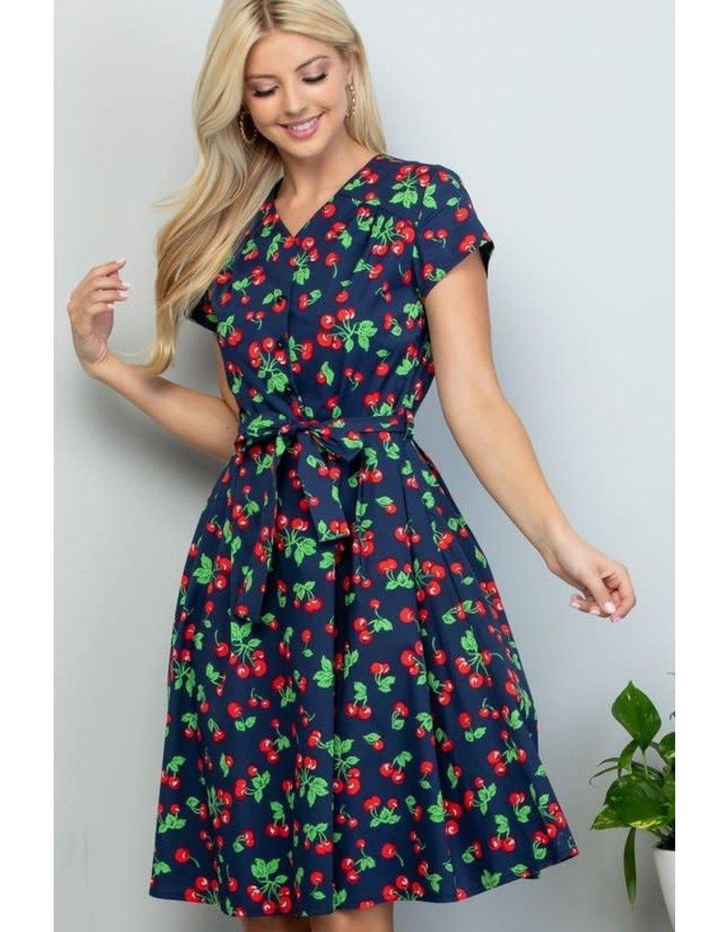 Lasoul Penelope Cherry Dress