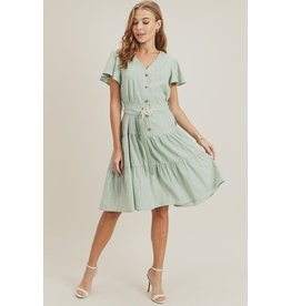Doe & Rae Maddy Ruffle Dress W/Sleeve (More Colours)