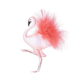 Raz Imports Feathered Flamingo
