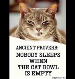 Ephemera Magnet- The Cat Bowl is Empty