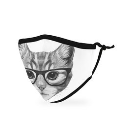 WeddingStar Kids Face Mask- Nerdy Cat