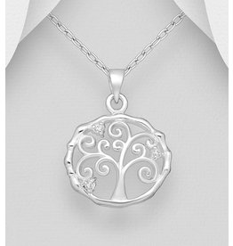 Sterling Necklace- CZ Tree