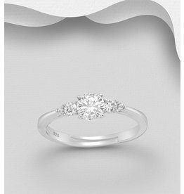 Sterling Ring-  Multi Cubic Zirconia