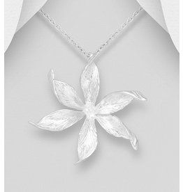 Sterling Sterling Flower Necklace