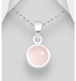 Sterling Sterling Silver Pink Chalcedony Necklace