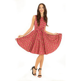 Miss. Lulo Florence Fuschia Dress