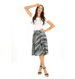 Miss. Lulo Gail A-Line Skirt With Pockets