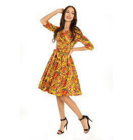 Miss. Lulo Wilma Mustard Dress